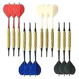LaiYueShangMao 12pcs / Set Soft Nylon Tip Darts PC Eje de PC para plástico electrónico Dartboard Home Bar Color Aleatorio para Adultos (Color : Colore)