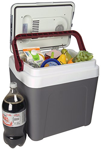 Koolatron P25, 12V Portable Electric Cooler (26 Quarts/24 Liters) 31 Cans Capacity - Iceless Thermoelectric Technology, Removable Sliding Shelf, Gray