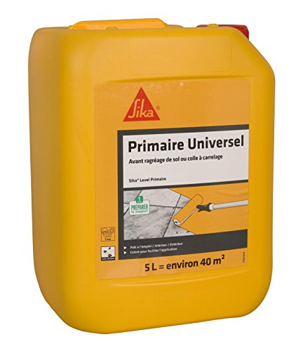 Sika Level Primaire, Primaire dadhérence pour supports difficiles, 5L, Rouge