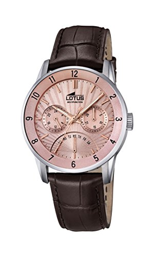 Lotus Herren Datum klassisch Quarz Uhr mit Leder Armband 18216/3