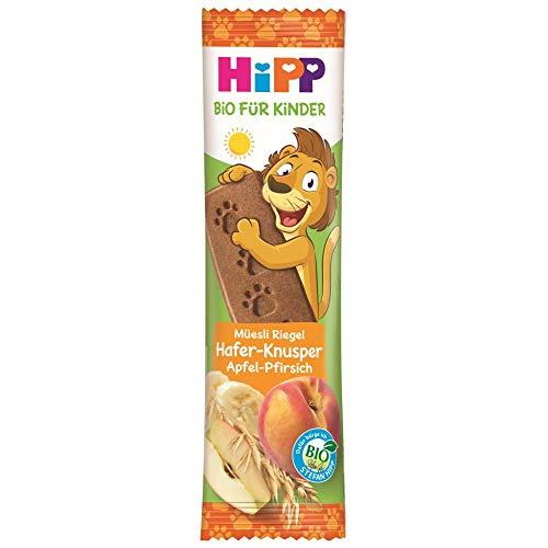 Hipp Bio-Riegel Müesli-Freund Löwe Getreide Apfel-Pfirsich, 24er Pack (24 x 20 g)