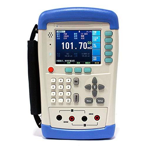 CENPEN Dgital Meter Alta Precisión AT518L Alta Precisión Mano Resistencia DC Milliohm Meter 4-Terminal Kelvin Tester 10u-200Kohm USB 3.5'' TFT LCD