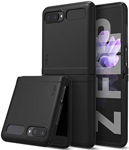 Ringke Slim Hülle Kompatibel mit Galaxy Z Flip Hülle (2020) - Black Schwarz