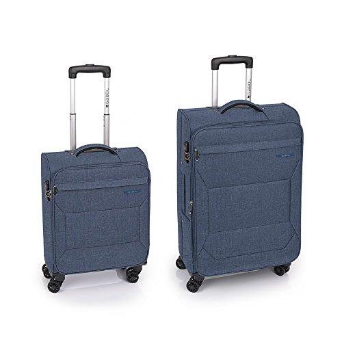 Gabol - Board   Juego de Maletas de Viaje de Color Azul con Trolley de Cabina y Trolley Mediano