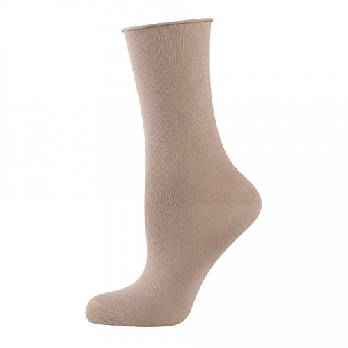 ELBEO Damen Socken Light Cotton mit Rollb& 3er Pack