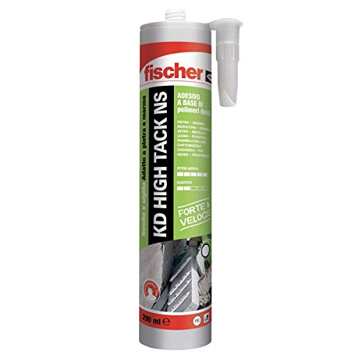 Fischer KD High Tack Sigillante Adesivo ad Altissima Presa Iniziale, Bianco, 290 ml, 545171