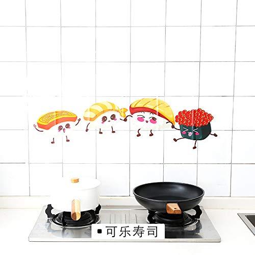 Transparente selbstklebende Papierkocher Hochtemperaturölbeständige Aufkleber Küchenfliese Ölbeständige wasserdichte Aufkleber Dampfwandfliese Aufkleber abnehmbare Wandaufkleber B