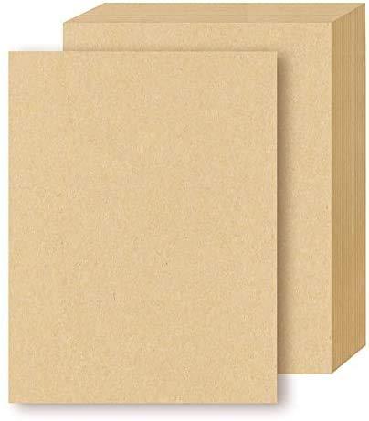TOKERD 100 hojas Papel de Estraza A4 Papel Kraft Cartón kraft Natural 160GSM Papel de Estraza Grueso para Impresora y DIY Artesanal
