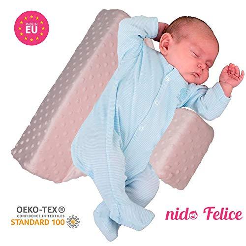 Nido Felice | Afneembare zijbekleding | Kantelbaar en valbescherming voor pasgeborenen | Made in EU | Reflux bescherming | Plagiocephalie | Platte kop | Nestje voor babybed en wieg |