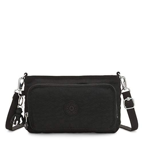 "Kipling Myrte Handbag, Black Noir, 9.5"" L X 5.75"" H X 1.75"" D"
