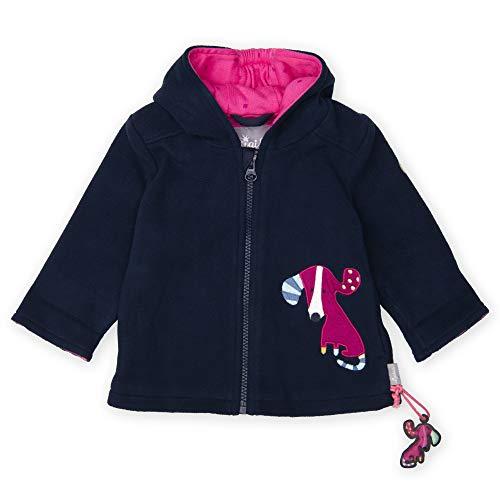 Sigikid Baby - Mädchen Fleecejacke mit Kapuze Jacke,, per pack Blau (blau 260), 80 (Herstellergröße: 80)