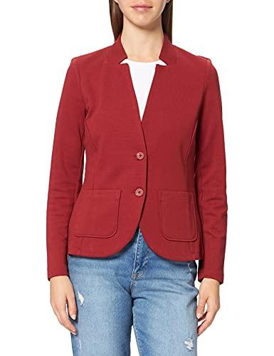 Tom Tailor 1021199 Ottoman Blazer, 27470 Dark Maroon Red, XXXL para Mujer