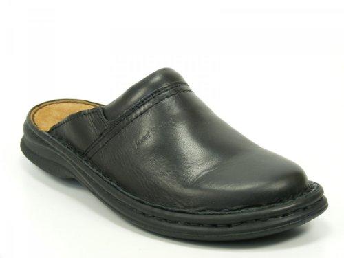 Josef Seibel Schuhe Herren Pantoletten Clogs Max Glatt Leder schwarz 1066337600, Schuhgröße:44 EU, Farbe:Schwarz