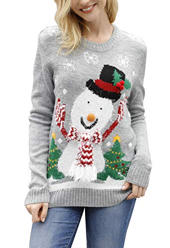 Pink Queen Unisex Ugly Christmas Xmas Pullover Sweater Jumper Snowman M