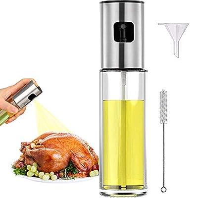 Oil Sprayer Mister for Cooking Olive Oil Spritzer for Air Fryer Vinegar Vegetable Oil Dispenser Portable Mini Kitchen Gadgets for Salad/Baking/Grilling/BBQ by ZEREOOY