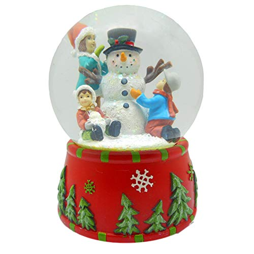 Lightahead Musical Christmas Snowman Polyresin Water Snow Globe with melodies Playing