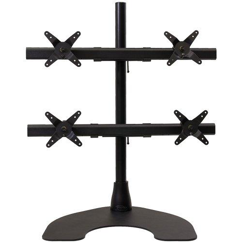 Heavy Duty 2 x 2 Quad Desk Stand with 28-Inch Pole - Black () - Ergotech 100-D28-B22-HD
