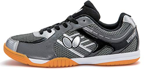 Butterfly Lezoline SAL Shoes – Breathable, Excellent Grip, Tournament Quality Table Tennis Shoes for Men or Women – Colors: Blue, Grey, Lime Green, Pink or White, 4.5