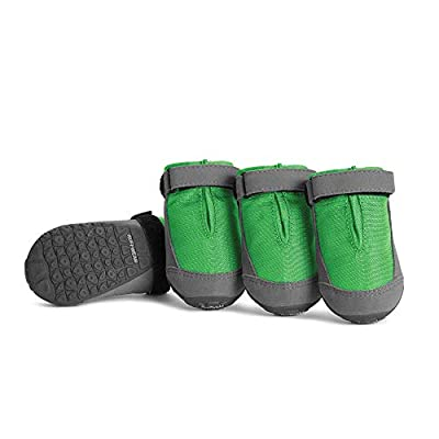 RUFFWEAR, Summit Trex Everyday Dog Boots with Rubber Soles for Walking, Meadow Green, 2.25 in (4 Boots)