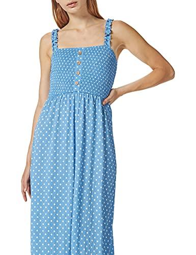 Only ONLPELLA S/L Dress CS Jrs Vestito, Allure/AOP: Puntini, XS Donna