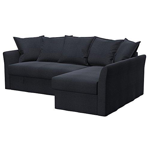 Soferia Fodera di ricambio per IKEA HOLMSUND divano letto angolare, tessuto Classic Steel, grigio