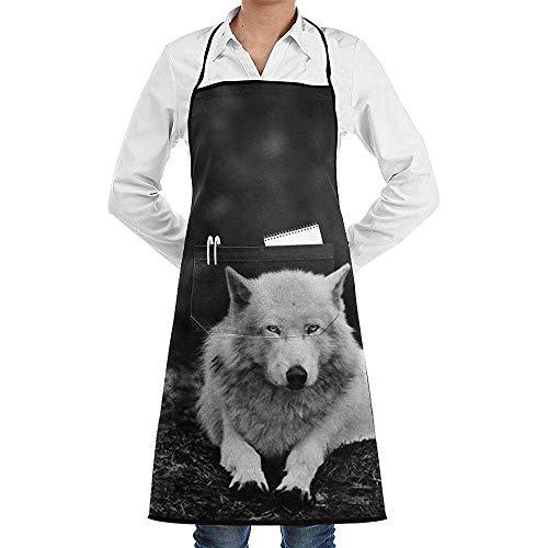 Wthesunshin Delantal Babero Ajustable Wolf Wolves