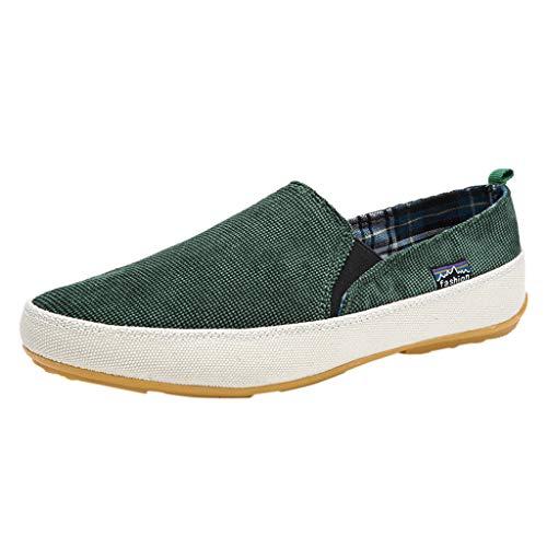 LSAltd Männer Arbeiten beiläufige Reine Farben-Wilde Licht-Wiegen Segeltuch-Schuhe Faule Schuhe um Einfache Bequeme atmungsaktive Müßiggänger-Beleg auf Schuhen