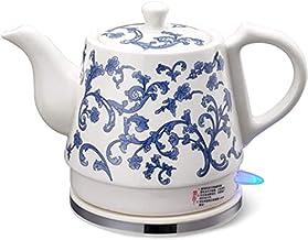 Fisecnoo Keramische elektrische waterkoker draadloze watertheepot, theepot - Retro 1. 2L kan, 1000w water snel voor thee, ...