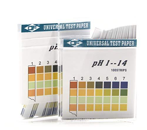 pH Test Strips 200ct Testing Alkaline en Zuur Niveaus van Uw Lichaam Track & Monitor Uw pH Niveau Met behulp van speeksel en Urine (pH 1-14)