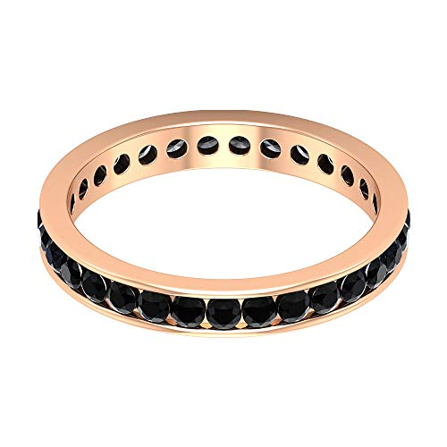 Rosec Jewels - 18 Karat Rotgold black Diamond Round Leicht Getöntes Weiß/Top Crystal (I) Diamant