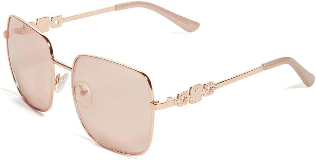GUESS Factory Rhinestone Sunglasses Max 53% OFF Aviator Square Gorgeous