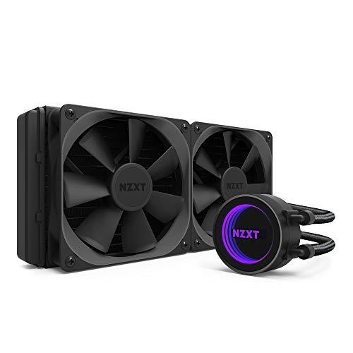 NZXT Kraken X52 240mm - RL-KRX52-02 - AIO RGB CPU Liquid Cooler - CAM-Powered - Infinity Mirror Design - Performance Engineered Pump - Reinforced Extended Tubing - Aer P120mm Radiator Fan (2 inc.)