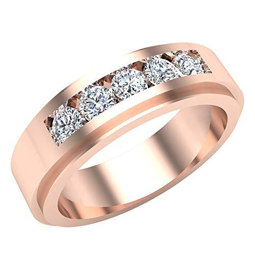 Glitz Design Mujer Hombre Niños Unisex 750 Gold oro rosa de 18 quilates Round Brilliant GH Diamond