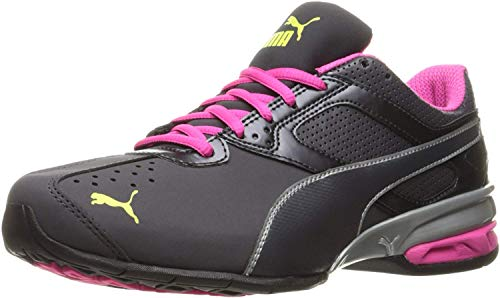 PUMA Women's Tazon 6 WN's fm Cross-Trainer Shoe, White/Fuchsia Purple Silver, 11 M US