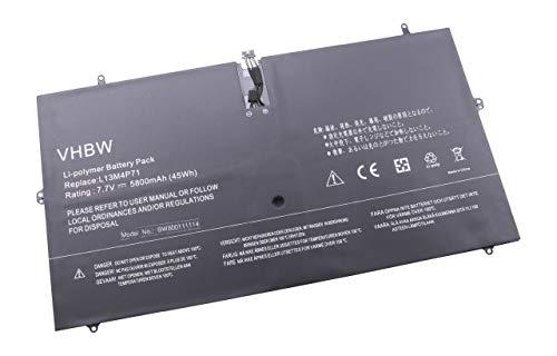 vhbw Li-Polymer batería 5800mAh (7.7V) para Notebook Laptop Lenovo Yoga 3 Pro, 3 Pro 1370, 3 Pro 1370 13.3' por L13M4P71, 121500264.
