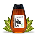LAPUELA Miel de Castaño. Miel de origen natural desde Asturias - Aroma floral, con un claro y marcado componente amaderado, a madera seca (350 gr - Dosificador)