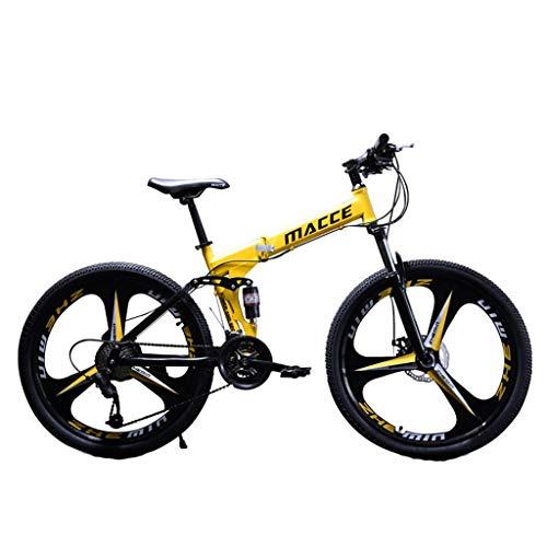 24 Zoll Mountainbike aus Kohlenstoffstahl, Fahrrad MTB, geignet ab 150 cm, V Bremse vorne und hinten, 21 Gang-Schaltung, Vollfederung, Jungen-Herren Fahrrad