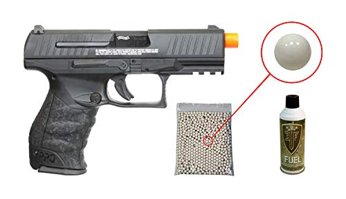 Umarex Walther PPQ Mod 2 Gas Blowback Airsoft Pistol with Included Elite Force Airsoft Green Gas Can and Wearable4U Pack of 1000 6mm 0.20g BBS Bundle