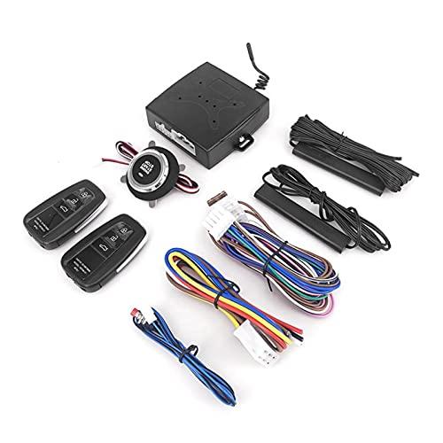 MEIMEI Store 12V Universal Automático Automático Sin ajustar Sistema de entrada Arranque de automóviles Y STOP Botones Kit Llavero Cerradura de puerta central con control remoto ( Color : X1 remote )