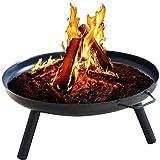 XLLQYY Feuerschale (Stahlschale) 3 mm Wandstärke-Ø 69cm-Design Feuerschale-Rostoptik-Feuerkorb-Kamin-Lagerfeuer-Stabbrot-Outdoor-Marshmallow-Barbecue-Garten