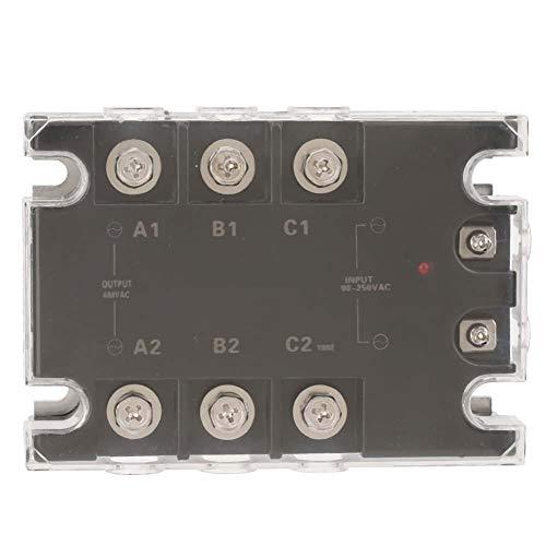 TSR-25AA-H Relé de estado sólido, AC 25A 90-250VAC a 24-480VAC Relé de estado sólido trifásico SSR