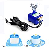 Replacement Pump for 84oz/2.5L Cat Water Fountain Pet Fountain Ultra Quiet Long Life Span 6ft USB Power Cable DIY