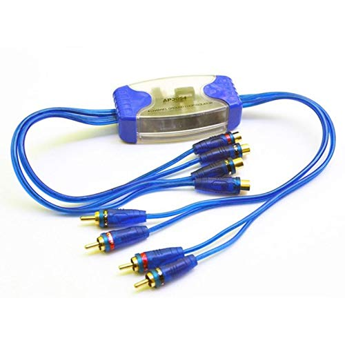 JIEIIFAFH Universal Noise Sound Eliminator 4 Channel RCA Ground Loop Isolator Noise Filters (Color : Blue)