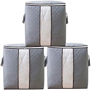 3 pcs sac de rangement de couette, sac de rangement de vêtements de grande capacité, humidité et anti-poussière, étendue d...