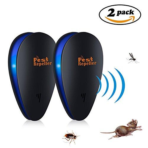 MFBEE Frequenzkonversions-Ultraschallinsektenabwehrmittel-Insektenschutzmittel-Maus-Ausgangskleines Elektronisches Moskito-Abwehrmittel-Schwarzes,Black