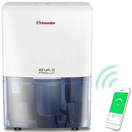 Inventor Eva II PRO WiFi, Deumidificatore Portatile (capacità di deumidificazione 16L/24h - Adatto Fino a 50 m2), Connessione WiFi, Deumidificazione Intelligente, Asciugabiancheria.