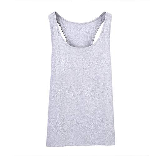 Mens Summer Slimming Trimmer Body Shaper Gym Training Workout Deportes Causal Sin Mangas Chaleco Underwears Tank Top Gris, L Uniquelove