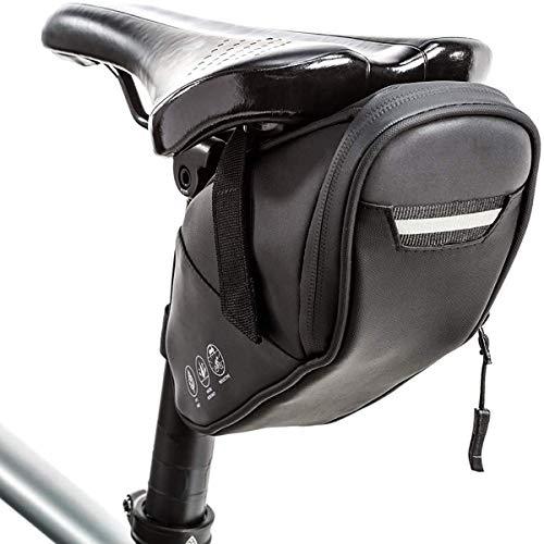 Lesrly-Cycle Bolso de Montar de Bicicleta Reflectante, Bolsa de Almacenamiento de Accesorios de Bicicleta Impermeable, montaña de la Noche de la Bicicleta de Carretera (1.2L)