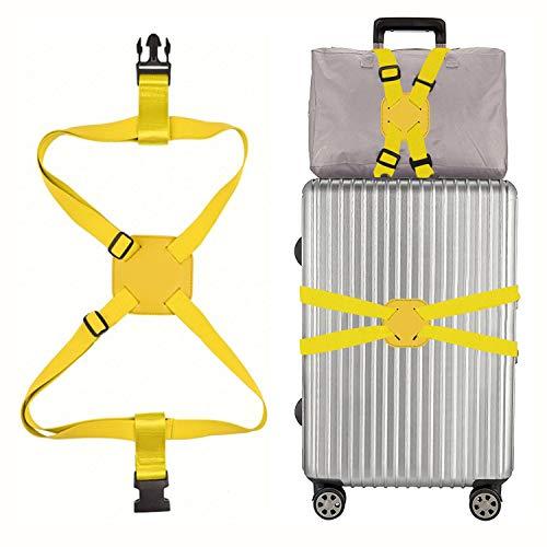 スーツケースベルト 紛失 盗難 荷崩れ防止 軽量 旅行便利 ゴム 調整可能 梱包バンド 持ち便利 旅行 出張 多用 飛行機グッズ