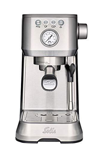 Solis Barista Perfetta Plus 1170 - Cafetera expresso automática - 15 bar - 1,7 L - 1 o 2 tazas - Máquina de café expreso - Acero inoxidable - Gris